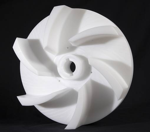 Usinage plastique Turbine PEHD